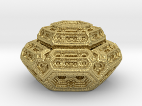Hexagonal mandelwhatever  in Natural Brass