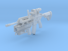 1/12th HK416Dtact1 in Smooth Fine Detail Plastic