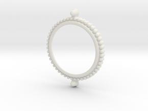Force badge bezel (Uniform) in White Natural Versatile Plastic
