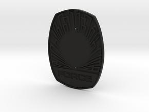 1115 Force badge (Uniform) in Black Premium Versatile Plastic