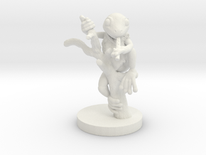 Grung with Blowpipe (small humanoid) in White Natural Versatile Plastic