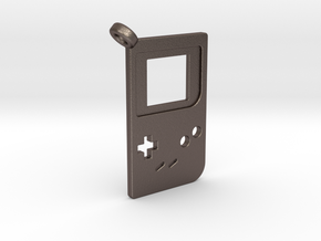 Gameboy Classic Styled Pendant in Polished Bronzed-Silver Steel
