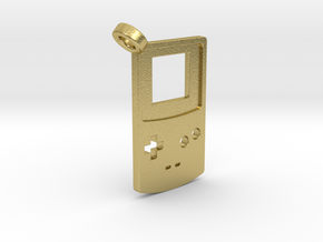 Gameboy Color Styled Pendant in Natural Brass