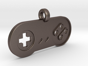 SNES Controller Styled Pendant in Polished Bronzed-Silver Steel
