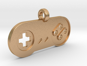 SNES Controller Styled Pendant in Natural Bronze