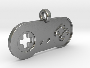 SNES Controller Styled Pendant in Natural Silver