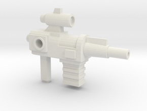 Constructo Blaster, 5mm Handle, 4mm ports in White Natural Versatile Plastic