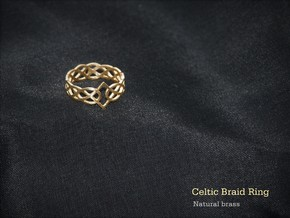 Celtic Braid Ring in Natural Brass: 7 / 54