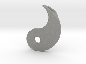 Yin Yang Pendant - Part 2 in Gray Professional Plastic
