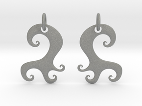Wavy Earrings in Gray PA12