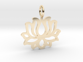 Lotus flower pendant in 14K Yellow Gold