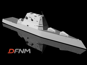 Zumwalt 1/700 & 1/350 in White Natural Versatile Plastic: 1:700