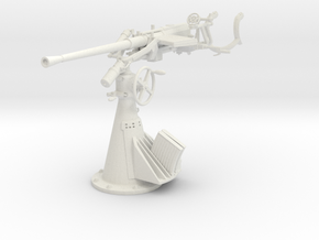 1/6 DKM 20 mm C30 single flak in White Natural Versatile Plastic