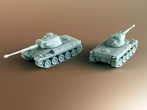 Indien Panzer Tank Scale: 1:100 in Smooth Fine Detail Plastic