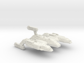 3788 Scale Lyran Refitted Space Control Ship CVN in White Natural Versatile Plastic