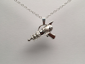 Retro Raygun in Polished Silver