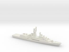 Anzac-class frigate, 1/2400 in White Natural Versatile Plastic