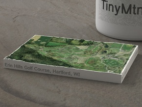 Erin Hills Golf Course, Wisconsin, 1:20000 in Natural Full Color Sandstone