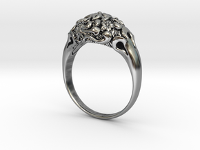 """""""Fleur"""" Dome Ring in Antique Silver"""