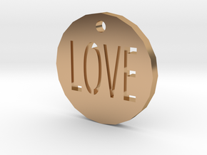 Love Pendant in Polished Bronze