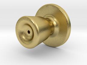 Door knob in 1:6 scale in Natural Brass