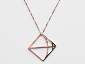 Sagittarius in 14k Rose Gold Plated Brass