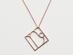Capricorn in 14k Rose Gold Plated Brass