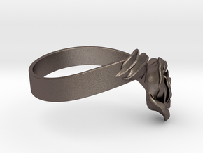 Fantasia: la Rose_size S in Polished Bronzed-Silver Steel