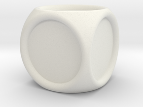 14mm indented die in White Natural Versatile Plastic