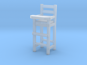 1:48 Baby High Chair in Smooth Fine Detail Plastic