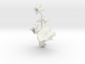 S Scale Stumps in White Natural Versatile Plastic