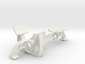 Six Flags Nautilus - Round Bottom Version - Stand in White Natural Versatile Plastic