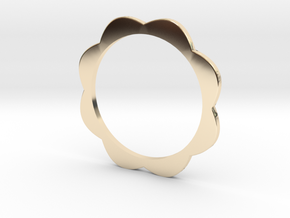 Flower Power - Bangle thick in 14k Gold Plated Brass