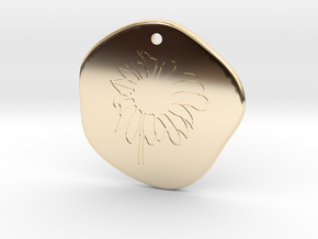 Sunflower Medallion in 14k Gold Plated Brass