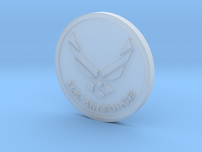 US Air Force Coin in Smoothest Fine Detail Plastic