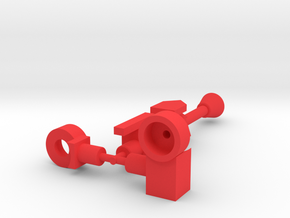 Hornetroid Tail Gun and Joint in Red Processed Versatile Plastic