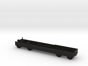 Quad Axle Semi Chassis in Black Natural Versatile Plastic