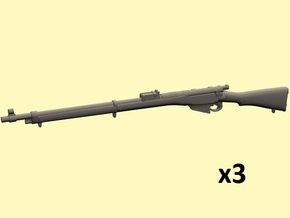 1/18 Lee Enfield Mk1 rifle in Smooth Fine Detail Plastic