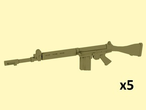 1/24 scale FN FAL rifles in Smooth Fine Detail Plastic