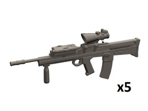 1/16 L85A2 assault rifles in Smooth Fine Detail Plastic