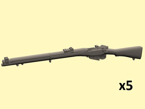 1/24 S.M.L.E. No.1 Mk.III rifles in Smoothest Fine Detail Plastic