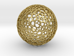 Alveole sphere in Natural Brass