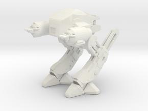 Robocop Prototype in White Natural Versatile Plastic