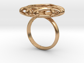 Ring with Swarovski crystal in Polished Bronze: 7.75 / 55.875