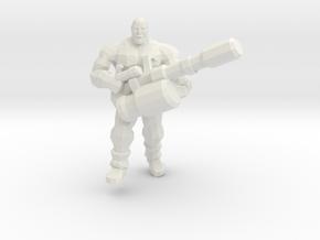 Heavily Armed Gas Miner in White Natural Versatile Plastic