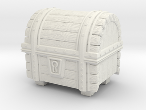 Wooden Treasure Chest in White Natural Versatile Plastic