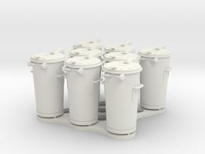 8 SULO Tonnen in White Natural Versatile Plastic