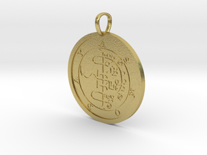 Asmoday Medallion in Natural Brass