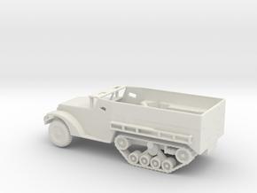 1/87 Scale M21 81mm Mortar Halftrack in White Natural Versatile Plastic