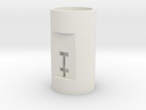 BasicTube in White Natural Versatile Plastic